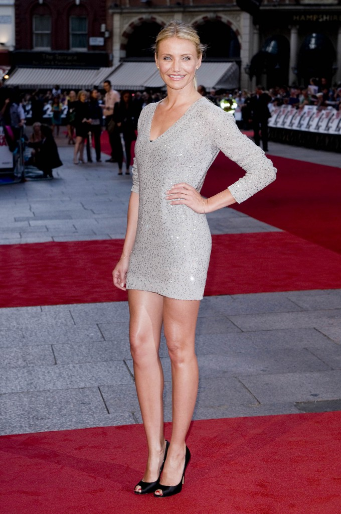 Cameron Diaz in silver Stella McCartney mini dress @ premiere Knight and Day