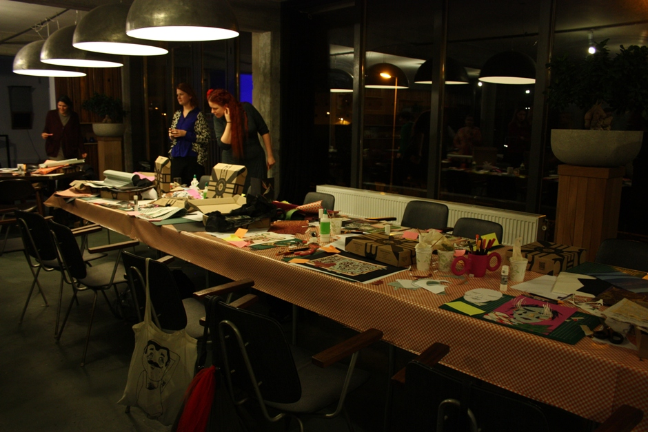 Fairminds & Etsy Papercraft workshop_Tafel na afloop