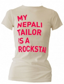 studio JUX t-shirt MY NEPALI TAILOR IS A ROCKSTAR