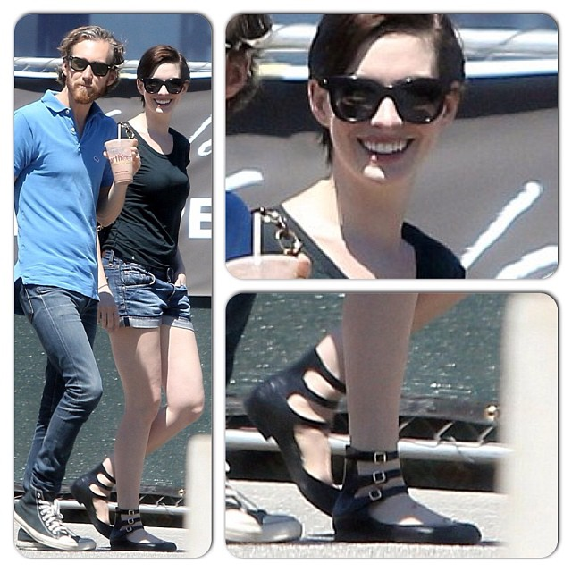 Anne Hathaway in Melissa shoes