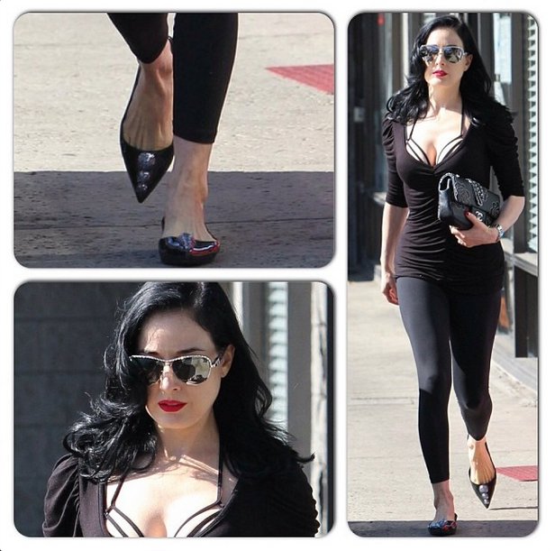 Dita von Teese in Karl Lagerfeld for Melissa_Glam