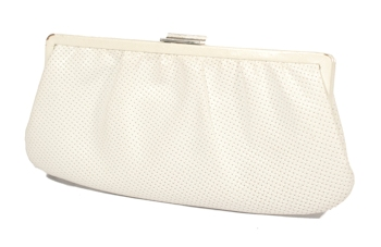 PHIXI witte clutch cropped