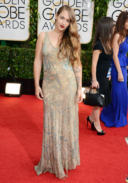 Jemina Kirke_Vintage at Golden Globes 2014
