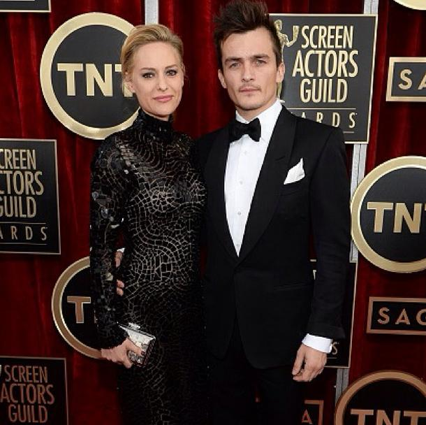 SAG Awards_The Green Carpet Challenge Rupert Friend in Tom Ford Eco Tuxedo
