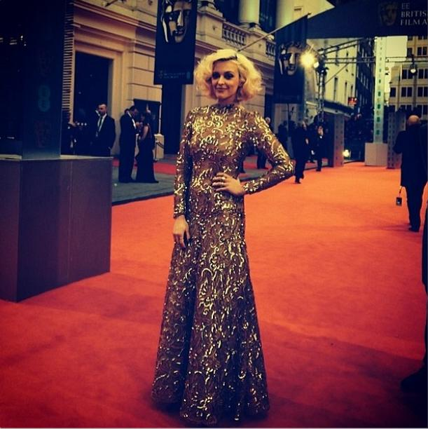 Bafta's 2014 - Fearne Cotton - Vintage Scaasi van WilliamVintage