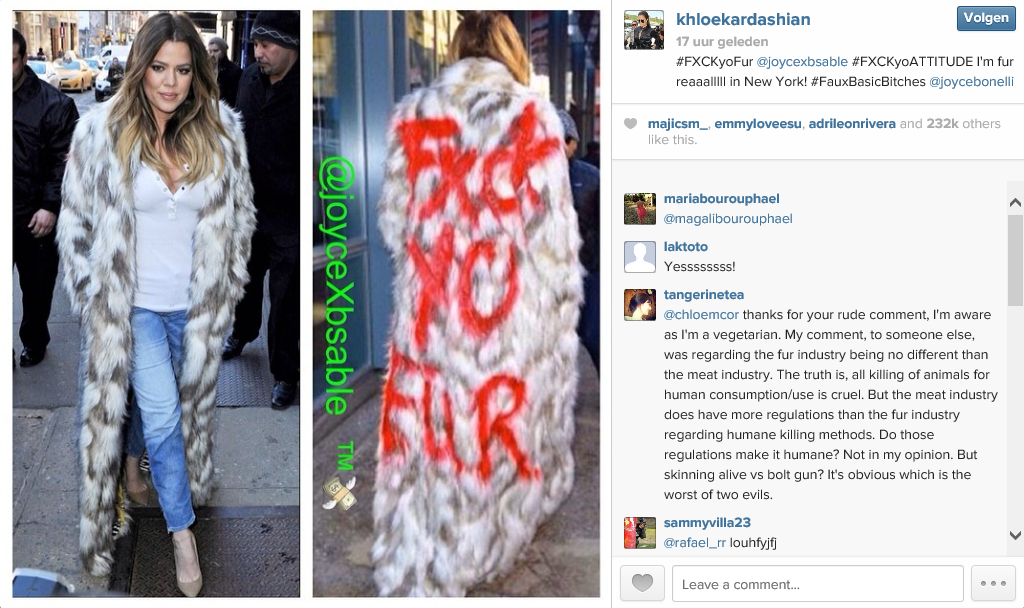 Khloe Kardashion - F*ck you fur - New York