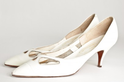 Vintage witte Fifth Avenue kitten heels_Sjiek Boutique