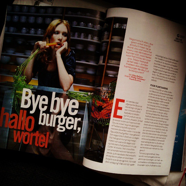 bye bye burger, hallo wortel - GLAMOUR september 2014