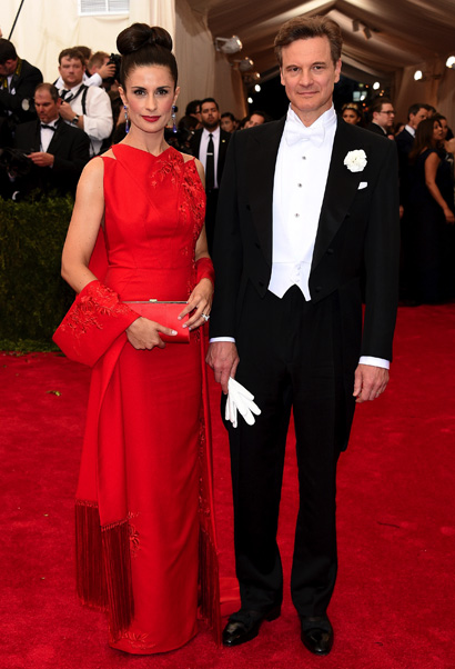 Livia & Colin Firth the Met Ball 2015