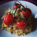 Orzorisotto uit de HelloFresh veggie box - green and the cities