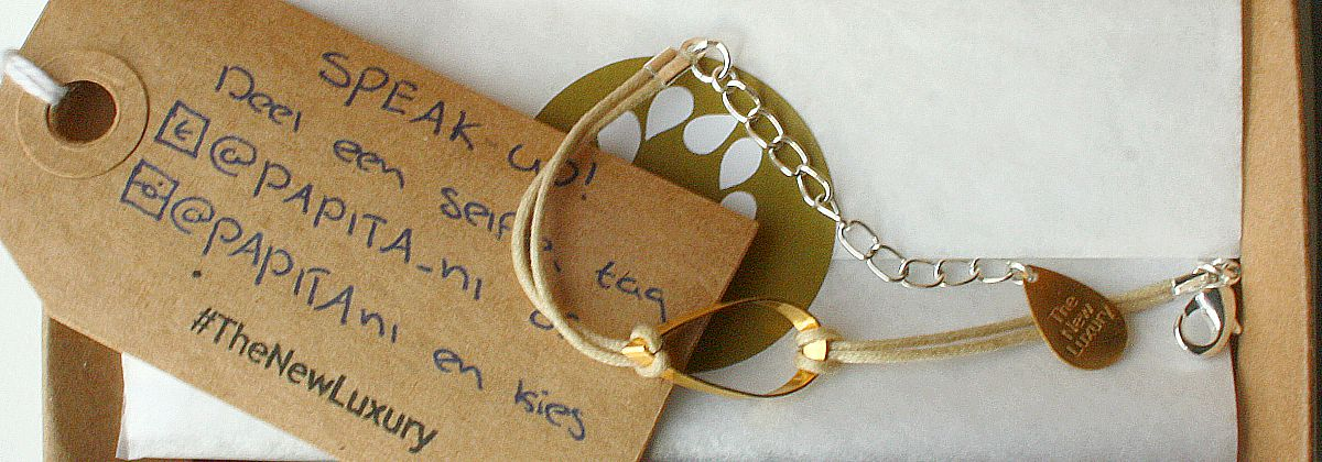 slow fashion bracelet - green and the cities