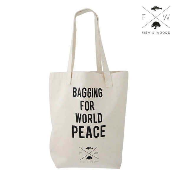 duurzame herbruikbaar tasje | bagging for world peace - fish and woods | green and the cities
