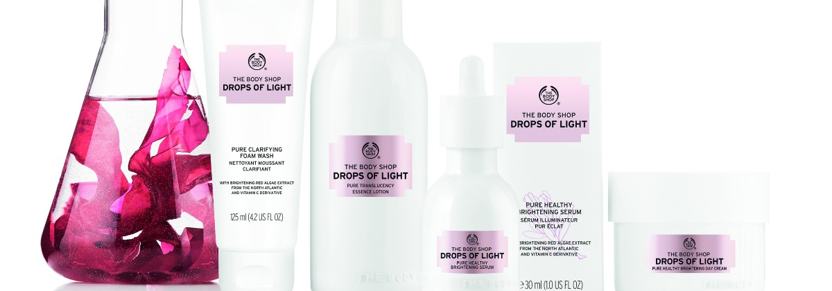 Drops of Light range - The Body Shop | green and the cities