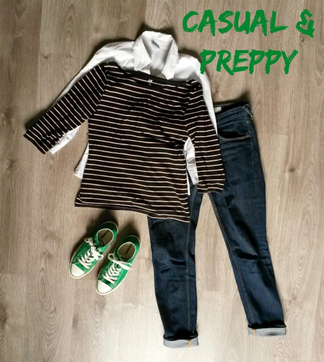 outfit inspiration | casual & preppy | green and the cities