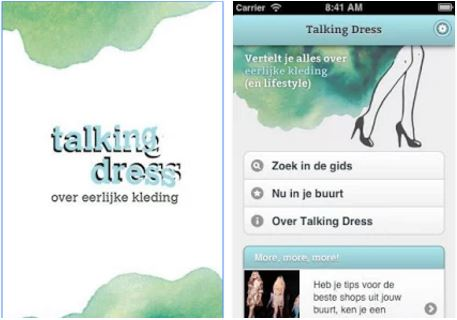 Duurzame apps | Talking Dress | green and the cities