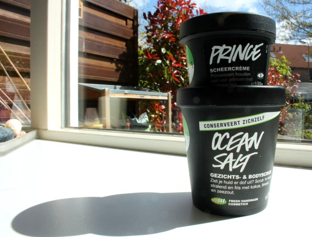 LUSH ocean salt scrub & prince scheercreme | green and the cities
