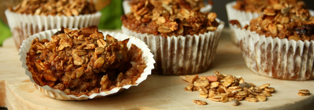 appeltaart muffins | zonnatura roasties | green and the cities