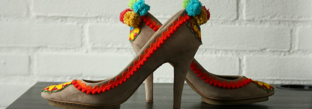pom pom shoes diy | l.k.bennett parrot | green and the cities