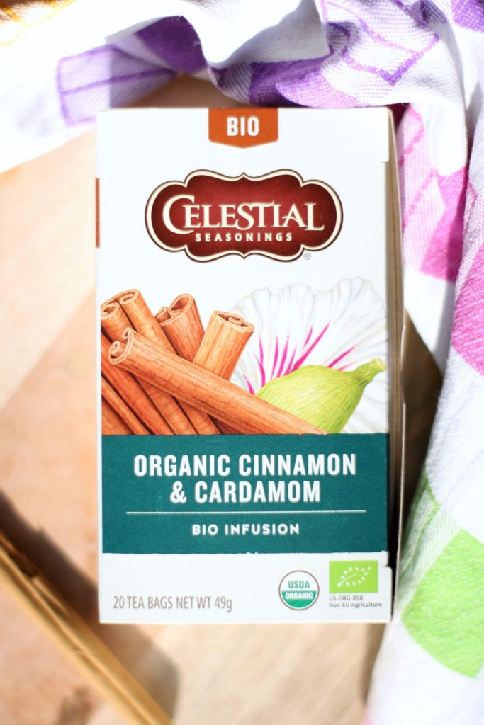 celestial seasonings bio infusion - cinnamon and cardamom | green and the cities