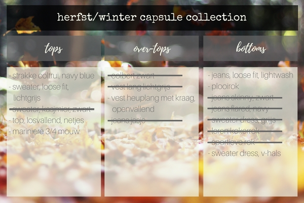 herfst-winter capsule collection - kleding | greenandthecities.nl
