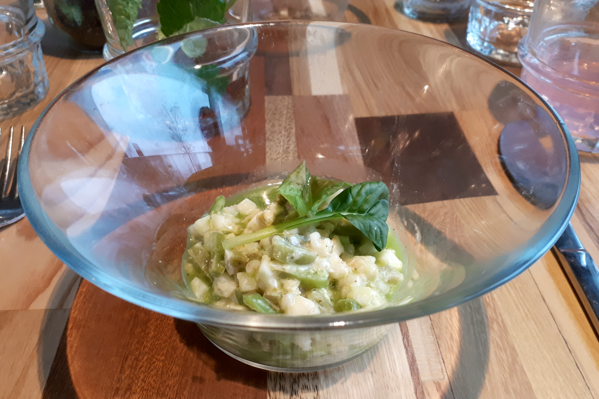the green house - circulair restaurant utrecht - risotto met knolselderij - green and the cities